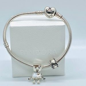 Pandora Jewelry Pandora Bella Bot Charm Pink Enamel Poshmark